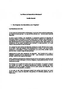 Los Planos de Desarrollo de Montessori. Camillo Grazzini