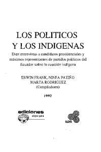 LOS POLITICOS y LOS INDIGENAS