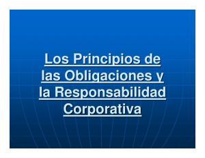 Los Principios de las Obligaciones y la Responsabilidad Corporativa