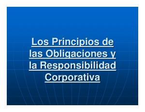 Los Principios de las Obligaciones y la Responsibilidad Corporativa