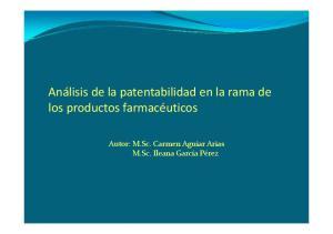 los productos farmacéuticos M.Sc. Ileana García Pérez