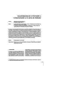 Los profesionales de la información y la documentación en la Junta de Andalucía