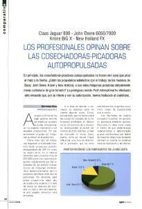 LOS PROFESIONALES OPINAN SOBRE LAS COSECHADORAS-PICADORAS AUTOPROPULSADAS