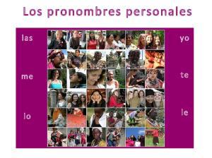 Los pronombres personales. las