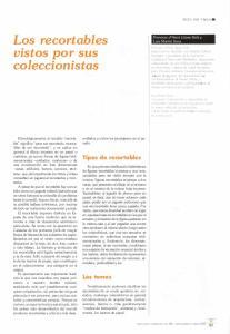 Los recortables vistos por sus coleccionistas