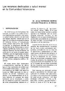 Los recursos dedicados a salud mental en la Comunidad Valenciana