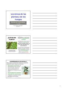 Los reinos de las plantas y de los hongos