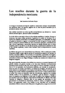 Los resellos durante la guerra de la independencia mexicana