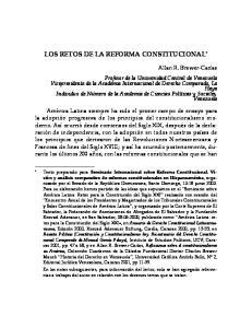 LOS RETOS DE LA REFORMA CONSTITUCIONAL *