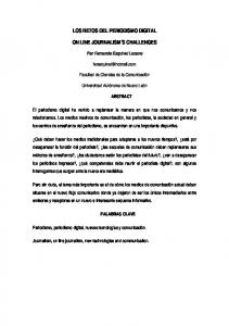 LOS RETOS DEL PERIODISMO DIGITAL ON LINE JOURNALISM S CHALLENGES