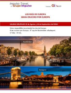 LOS RIOS DE EUROPA GRAN CRUCERO POR EUROPA