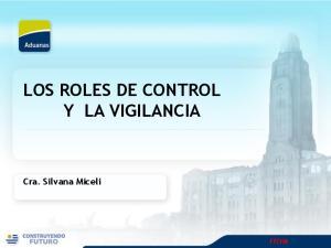 LOS ROLES DE CONTROL Y LA VIGILANCIA