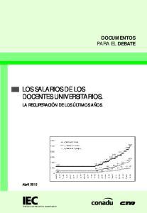 LOS SALARIOS DE LOS DOCENTES UNIVERSITARIOS