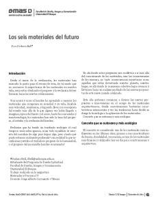 Los seis materiales del futuro