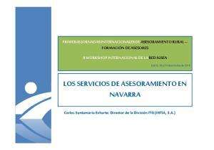 LOS SERVICIOS DE ASESORAMIENTO EN NAVARRA