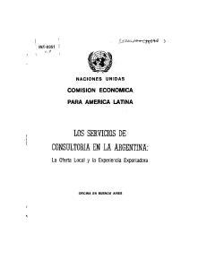 LOS SERVICIOS DE CONSULTORIA EN LA ARGENTINA: