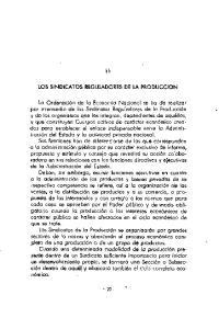 LOS SINDICATOS REGULADORES DE LA PRODUCCION