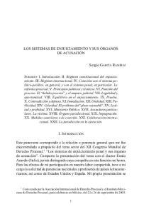 LOS SISTEMAS DE ENJUICIAMIENTO Y SUS ÓRGANOS DE ACUSACIÓN