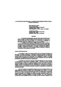 LOS SISTEMAS DE INFORMACION A LA DIRECCION EN EMPRESAS INNOVADORAS. UN ANALISIS EMPIRICO