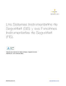 Los Sistemas Instrumentados de Seguridad (SIS) y sus Funciones Instrumentadas de Seguridad (FIS)