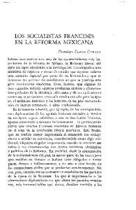 LOS SOCIALISTAS FRANCESES EN LA REFORMA MEXICANA