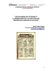 LOS SUCESOS DE HUENAO Y LA REBELIÓN DE 1712 EN CHILOÉ (Materiales para la elaboración de una cantata)
