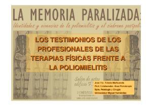 LOS TESTIMONIOS DE LOS PROFESIONALES DE LAS LA POLIOMIELITIS