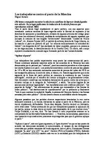 Los trabajadores contra el pacto de la Moncloa Miguel Romero
