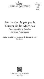 Los tratados de paz por la Guerra de las Malvinas