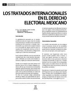 LOS TRATADOS INTERNACIONALES EN EL DERECHO ELECTORAL MEXICANO