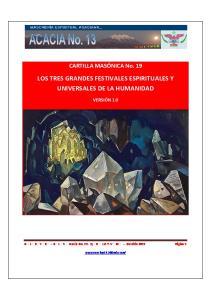 LOS TRES GRANDES FESTIVALES ESPIRITUALES Y UNIVERSALES DE LA HUMANIDAD