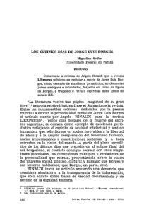 LOS ULTIMOS DIAS DE JORGE LUIS BORGES