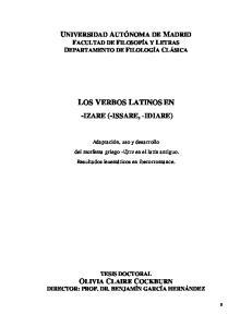 LOS VERBOS LATINOS EN