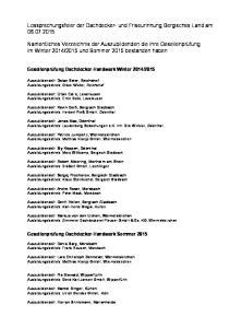 Lossprechungsfeier der Dachdecker- und Friseurinnung Bergisches Land am