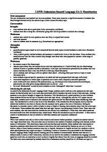 LOTE: Indonesian Second Language GA 3: Examination