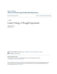 Lottery Voting: A Thought Experiment