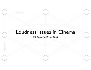 Loudness Issues in Cinema