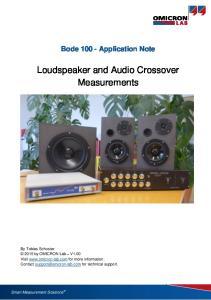 Loudspeaker and Audio Crossover Measurements