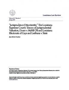 Louisiana Law Review. Jason Edwin Dunahoe. Volume 64 Number 3 Spring Repository Citation