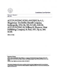 Louisiana Law Review. Melvin G. Dakin. Volume 12 Number 4 May Repository Citation