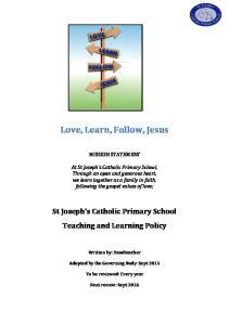 Love, Learn, Follow, Jesus