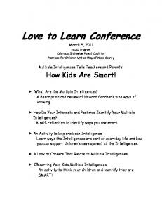 Love to Learn Conference