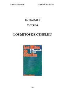 LOVECRAFT Y OTROS LOS MITOS DE CTHULHU