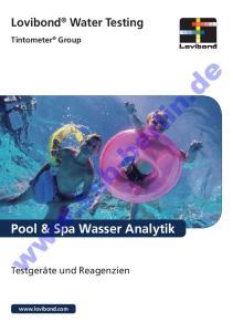 Lovibond Water Testing. Tintometer Group.  Pool & Spa Wasser Analytik. Testgeräte und Reagenzien