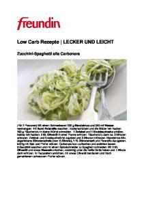 Low Carb Rezepte LECKER UND LEICHT