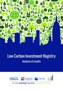 Low Carbon Investment Registry. Analysis of results