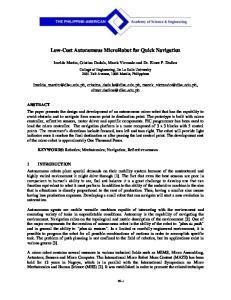 Low-Cost Autonomous MicroRobot for Quick Navigation