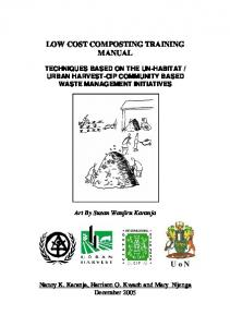 LOW COST COMPOSTING TRAINING MANUAL