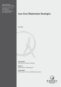 Low-Cost Momentum Strategies