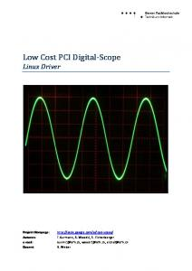 Low Cost PCI Digital-Scope